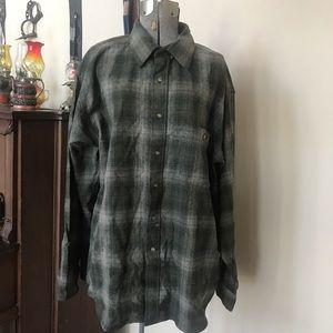 PENDLETON Flannel Plaid Wool Button Down Shirt